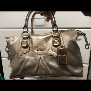 Gold Coach Ashley Handbag